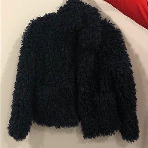 Zara shaggy jacket